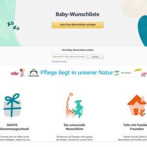 Amazon Bietet Eine Baby Wunschliste Fur Geschenke Zur Geburt
