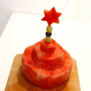 Anleitung mehrstöckige Wassermelonentorte