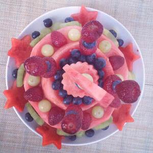 Wassermelonentorte zum Kindergeburtstag