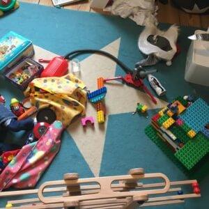 Unordnung im Kinderzimmer