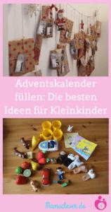 Adventskalender: Füllideen für Kleinkinder