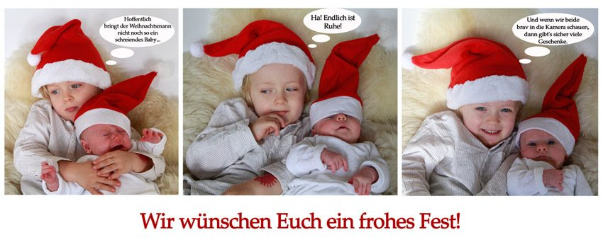 ideen f r weihnachtsfotos mit babys und kindern. Black Bedroom Furniture Sets. Home Design Ideas