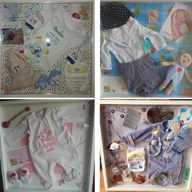 diy einen erinnerungsrahmen f rs baby basteln. Black Bedroom Furniture Sets. Home Design Ideas