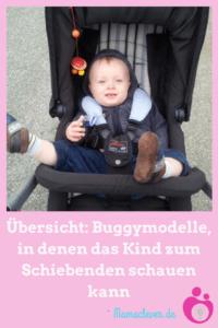 Eine Liste mit Buggymodellen, in denen das Kind zum Schiebenden schauen kann