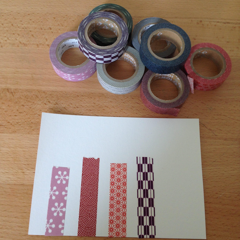 Anleitung Einladungskarte basteln mit Washi Tape