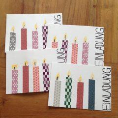 Kindergeburtstag: Einladungskarten selber basteln ...