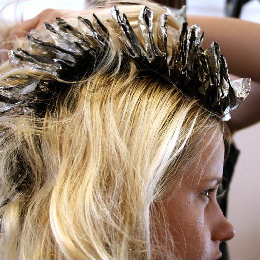 Haarfarbe in der stillzeit
