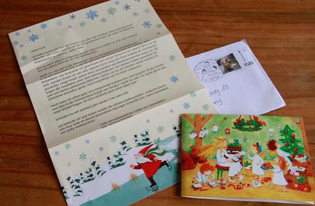 dem weihnachtsmann einen brief schreiben