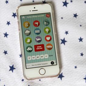 Baby Sleep Sounds - eine App mit weißem Rauschen, das Babys beruhigt