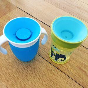 Trinklernbecher Munchkin Miracle und Nuk Magic Cup