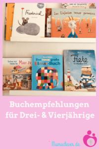 Empfehlenswerte Bilderbücher für Dreijährige und Vierjährige
