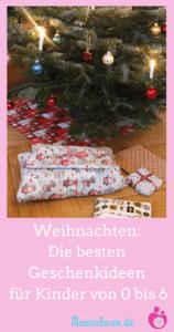 Geschenketipps für Kinder von 0 bis sechs Jahren