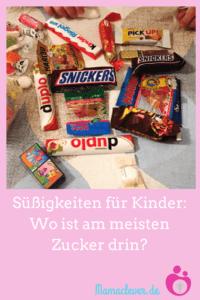 In welchen Süßigkeiten für Kinder ist am meisten Zucker drin?