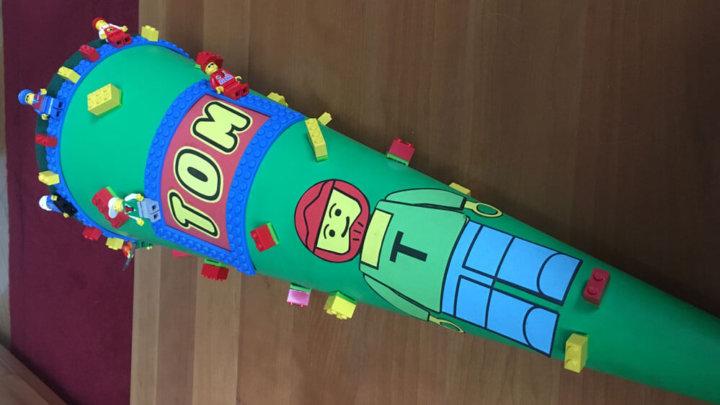 Lego Schultute Mit Echten Legosteinen Selber Basteln Mamaclever De